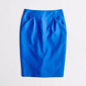 J.Crew   The Pencil Skirt Double-Serge Cotton sz 6
